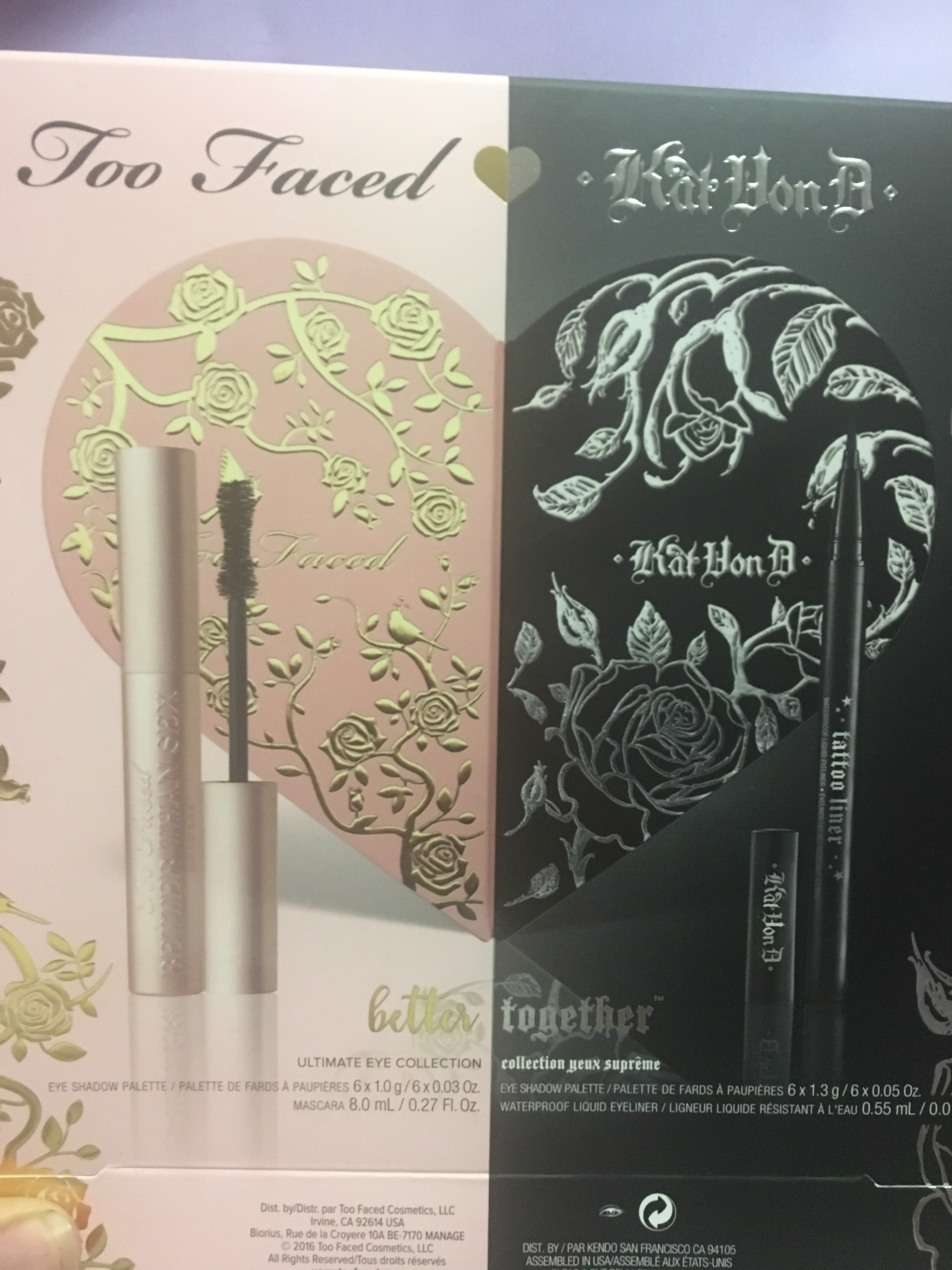 Too Faced X Kat Von D Better Together Not Your Average